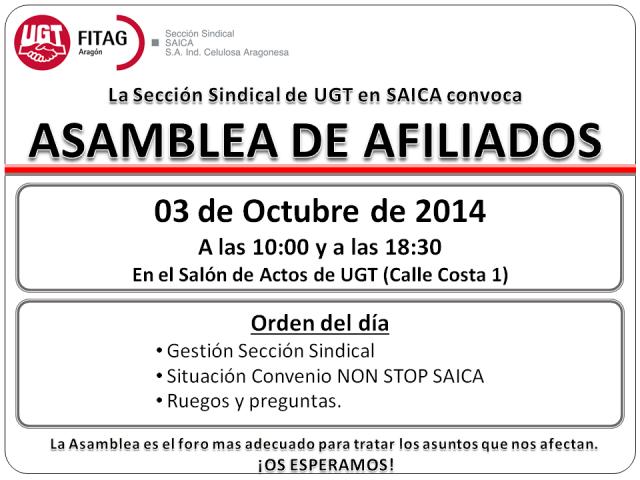 20141003 Convocatoria Asambleas