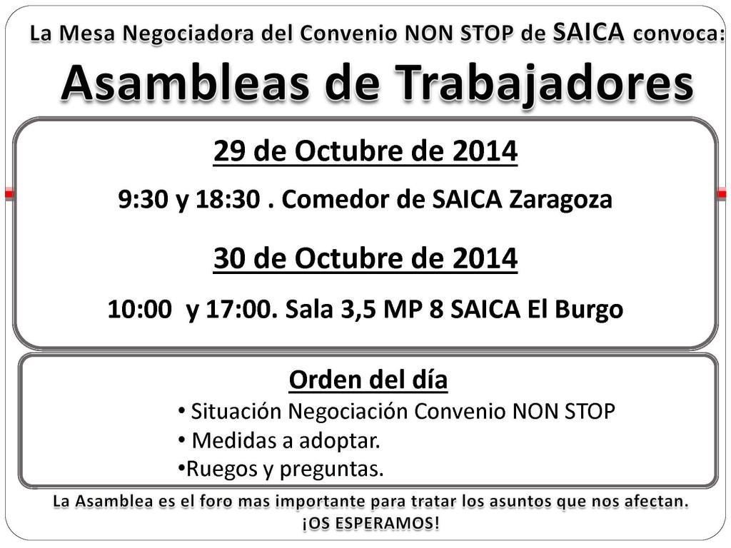 20141017 Asambleas NONSTOP 29 y 30 Octubre 2014