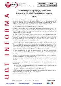 20150616 COMUNICADO UGT SAICA 37 ACTA CC ESTATAL 5 MAYO