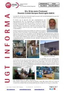 20150701 COMUNICADO UGT SAICA 41 2015 CE Restringido 29 y 30 Junio Toulouse_Página_1