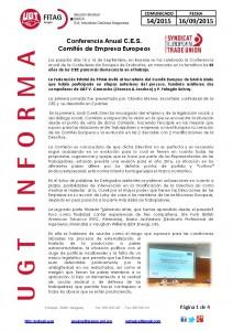 20150916 COMUNICADO UGT SAICA 54 2015 UGT SAICA REUNION CES BRUSELAS_Página_1