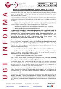 20151016 COMUNICADO UGT SAICA 60 2015 REUNION C ESTATAL 15 10