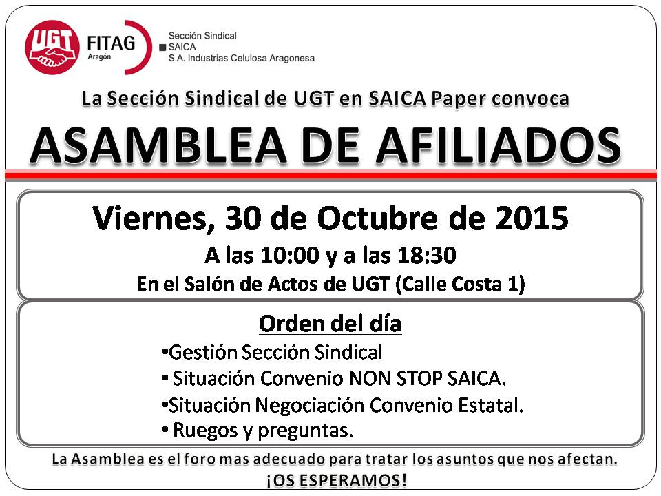 20151030 Convocatoria Asambleas