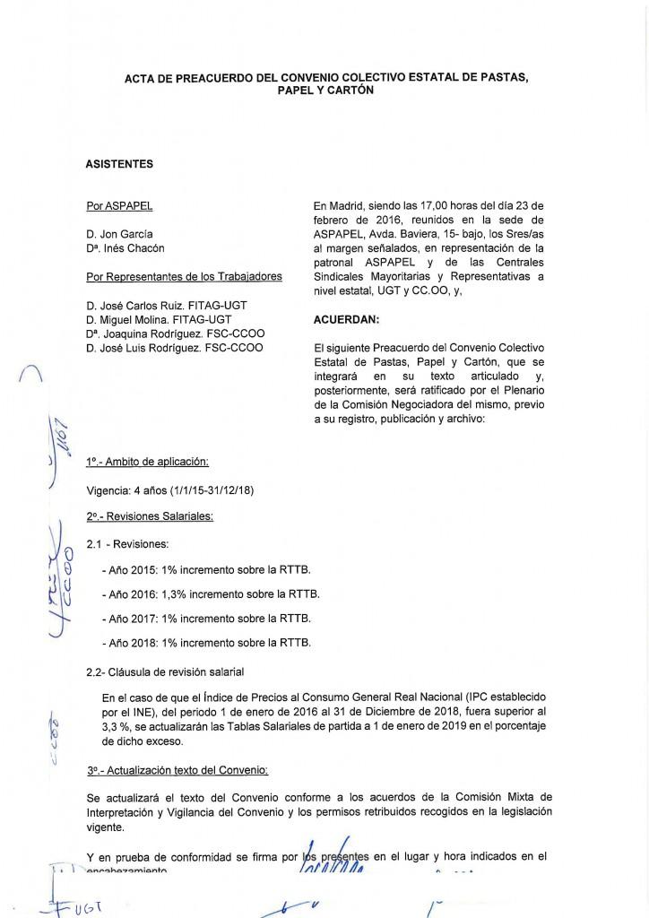 20160223 ACTA PREACUERDO MESA NEGOCIADORA PAPEL