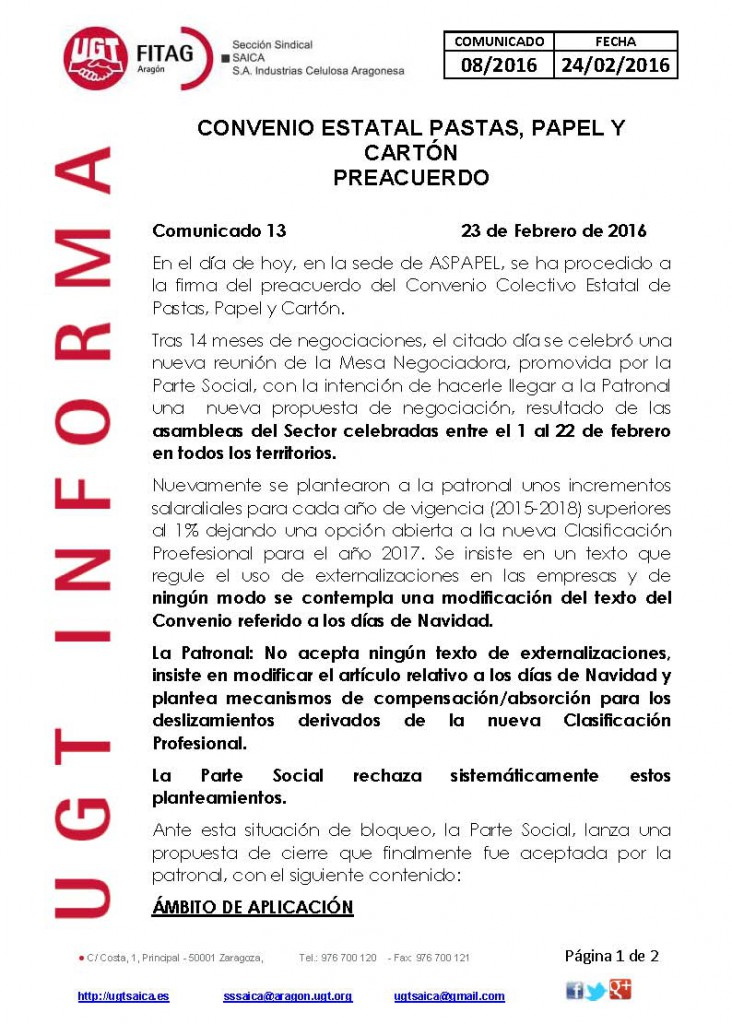 20160224 COMUNICADO UGT SAICA 8 2016 CONV ESTATAL_Página_1