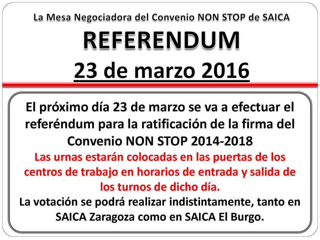CARTEL REFERENDUM